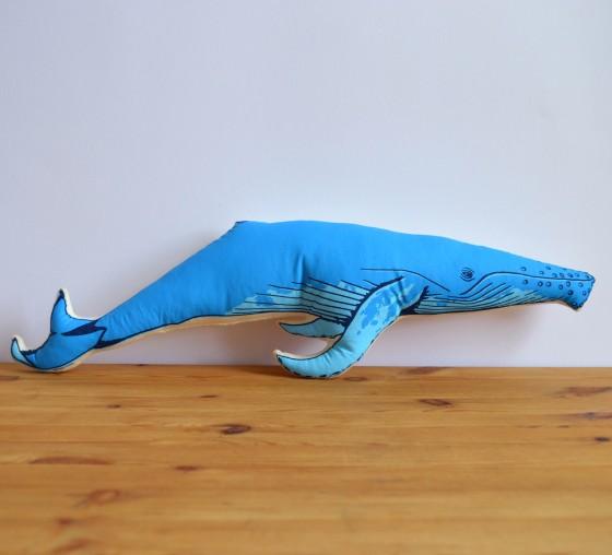 Broderpress - Whale Pillow 1